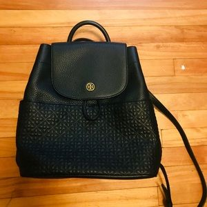 Tory Burch leather backpack black. NWOT.
